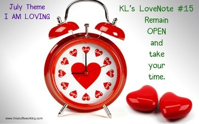 Kls Lovenote 15 Remain Open And Take Your Time