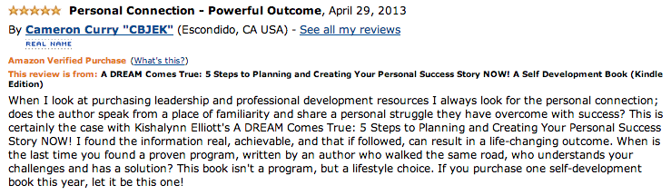 Screen Shot 2013 05 01 at 1.08.09 AM A DREAM Comes True: A Personal Development E Book